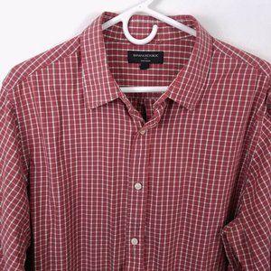 Banana Republic XL Soft Wash Shirt Plaid Cotton